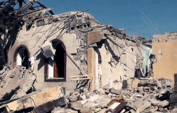 Расстрелянный храм в г. Кировское, ДНР