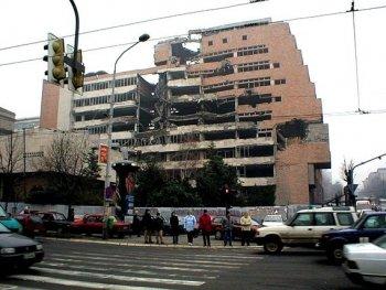 Здание Министерства обороны Югославии в Белграде, разрушенное во время авиаударов НАТО в 1999 году (David Orlovic)
