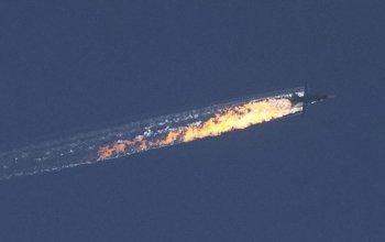 Сбитый Турцией российский самолет