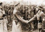 Г. Гиммлер лично инспектирует тренировочный лагерь дивизии «СС Галичина»