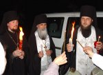 Благодатный Огонь в Мгарском монастыре