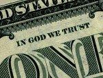 Слова на долларе «Мы веруем в Бога»