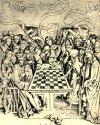 Смерть дает мат королю. Аллегорическая гравюра неизвестного эльзасского художника XV века