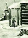 Отрок Иоанн молится по дороге в школу