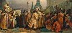 Шествие на осляти Алексея Михайловича. В. Г. Шварц. 1865 г.